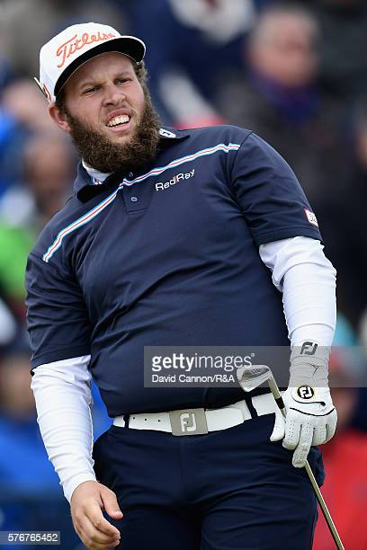 Andrew Johnston of England reacts during the final round on day four of the 145th Open Championship at Royal Troon on July 17 2016 in Troon Scotland