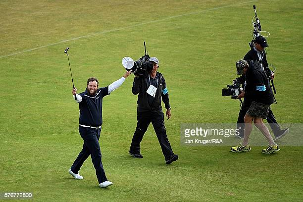 Andrew Johnston of England reacts on the 18th hole during the final round on day four of the 145th Open Championship at Royal Troon on July 17 2016...