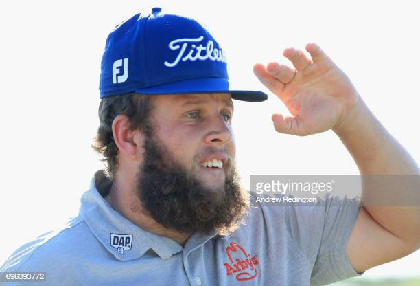 Andrew Johnston of England walks across the 18th green during the first round of the 2017 US Open at Erin Hills on June 15 2017 in Hartford Wisconsin