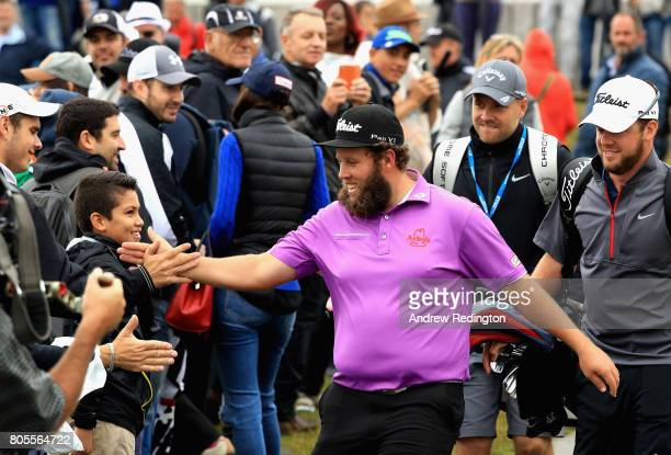Andrew Johnston of England walks to the 1st tee during day four of the HNA Open de France at Le Golf National on July 2 2017 in Paris France