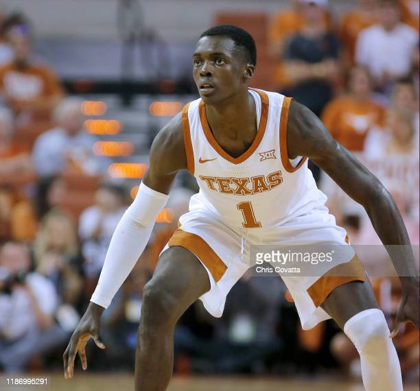 Andrew Jones of the Texas Longhorns plays defense against the Northern Colorado Bears at The Frank Erwin Center on November 05 2019 in Austin Texas