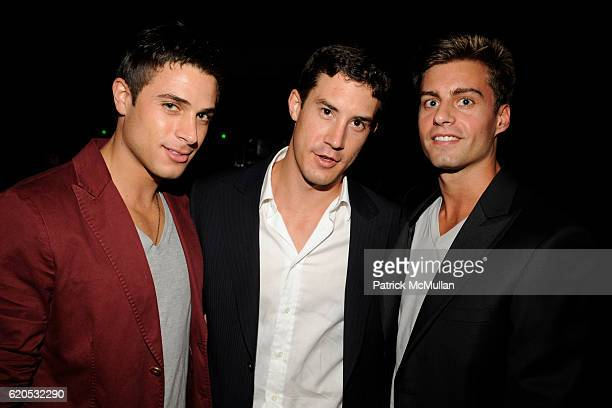 Andrew Kanakis, Eric Ternon and Kyle Berleth attend MARC JACOBS Spring 2009 Collection at The Greenwich Hotel on September 8, 2008 in New York City.