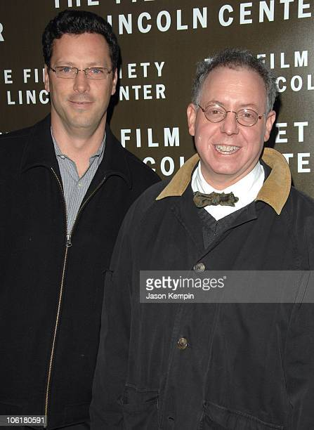 Andrew Karpen and James Schamus during HOT FUZZ New York City Screening April 10 2007 at Walter Read Theater in New York City New York United States