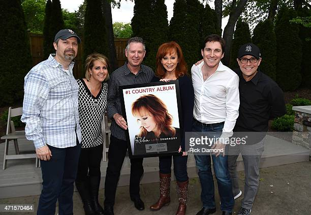 Andrew Kautz Kelly Rich Jim Weatherson Reba McEntire John Zarling and Jimmy Harnen celebrate Reba's country album at a private concert for SiriusXM...
