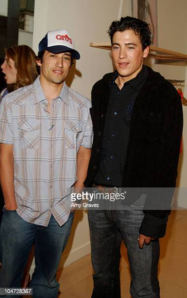 Andrew Keegan and brother Casey during Max Mara and Vanity Fair VIP Reception To Benefit The Fulfillment Fund at Max Mara Store in Beverly Hills...