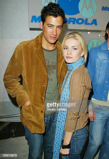Andrew Keegan and Elisha Cuthbert during Motorola 4th Annual Holiday Party Arrivals at The Lot in Hollywood California United States