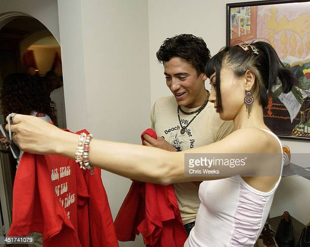 Andrew Keegan Bai Ling modeling Steve Madden during Sunset Marquis Oasis Hosts PreMTV Awards with SPIN Magazine Rock the Vote at Sunset Marquis...