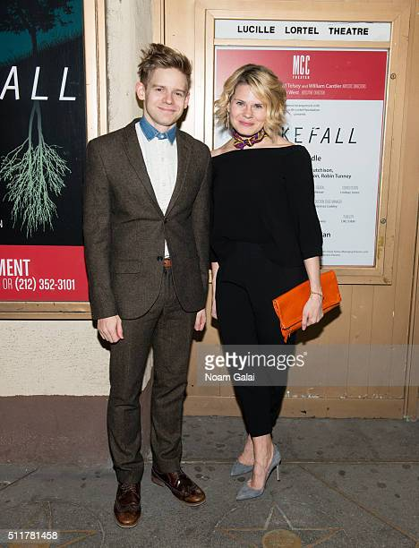 Andrew KeenanBolger and Celia KeenanBolger attend Smokefall opening night at Lucille Lortel Theatre on February 22 2016 in New York City