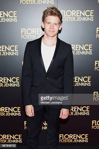 Andrew KeenanBolger attends the Florence Foster Jenkins New York premiere at AMC Loews Lincoln Square 13 theater on August 9 2016 in New York City