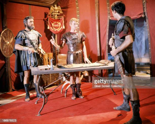 Andrew Keir as Agrippa and Roddy McDowall as Octavian/Ceasar Augustus in 'Cleopatra' directed by Joseph L Mankiewicz 1963