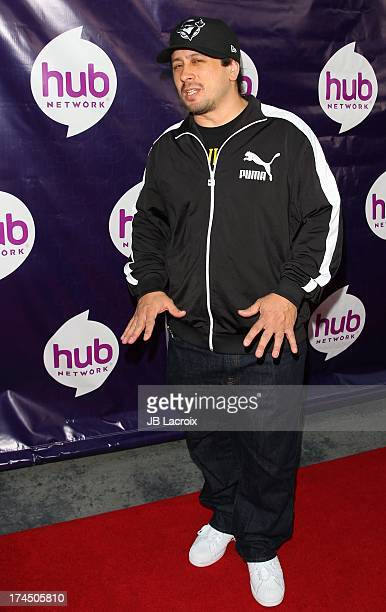 Andrew Kishino attends the 2013 Television Critics Association's Summer Press Tour The Hub Network Red Carpet Event held at The Globe Theatre at The...