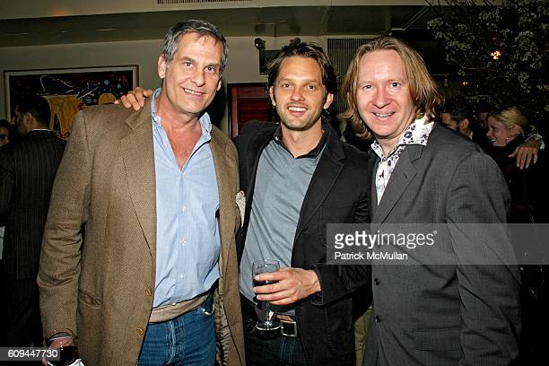 Andrew Klink Brian Robinson and Eric Weitlaner attend Susan Blond Inc 20th Anniversary Party at Michael's on March 1 2007 in New York City