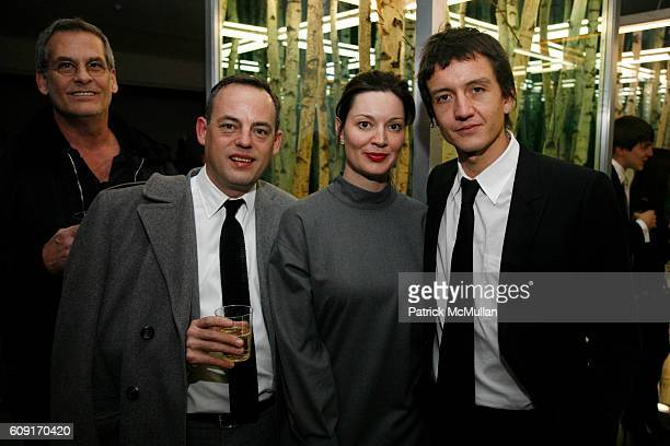 Andrew Klink Charlie Scheips Sarah Gavlak and Anthony James attend Reception for Artist ANTHONY JAMES at Milk Gallery 450 West 15th St on February 23...