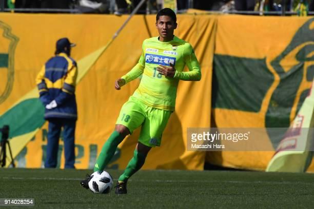 Andrew Kumagai of JEF United Chiba in action during the preseason friendly match between JEF United Chiba and Kashiwa Reysol at Fukuda Denshi Arena...