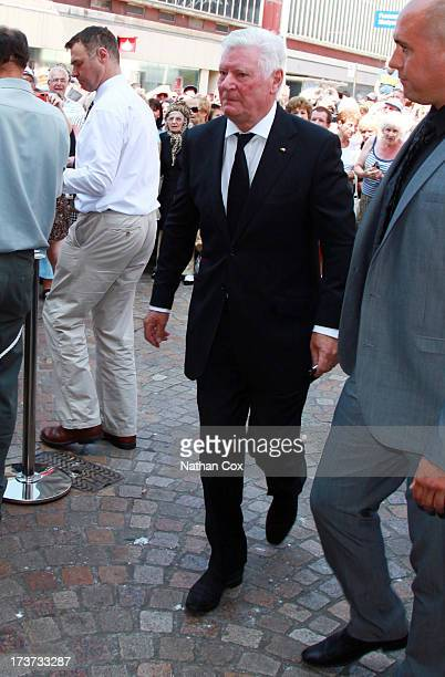 Andrew Lancel attends Bernie Nolan's funeral at Grand Theatre on July 17 2013 in Blackpool England