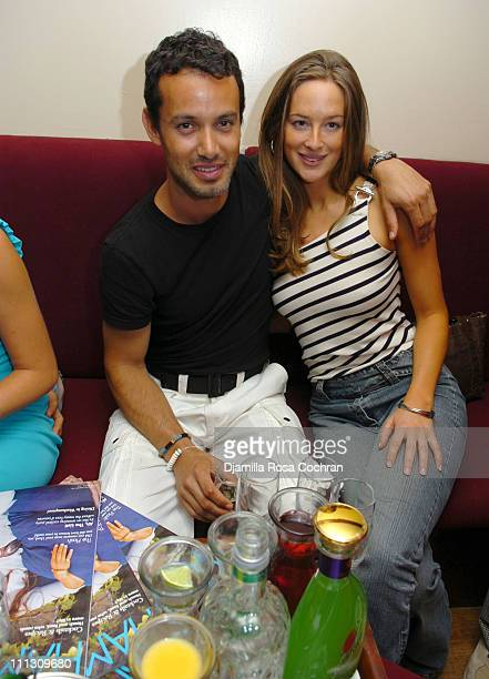 Andrew Lauren and Anna Curry during Hamptons Magazine Celebrates Cover Model Dylan Lauren at Jet East in Southampton New York United States
