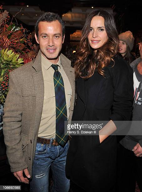 Andrew Lauren and Laetita Queyranne celebrate RalphLaurencom with 10 Years Of Innovation With 4D Light Showat Ralph Lauren Madison Avenue Store on...