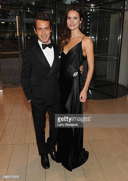Andrew Lauren and Laetitia Queyranne attend an evening with Ralph Lauren hosted by Oprah Winfrey and presented at Lincoln Center on October 24 2011...