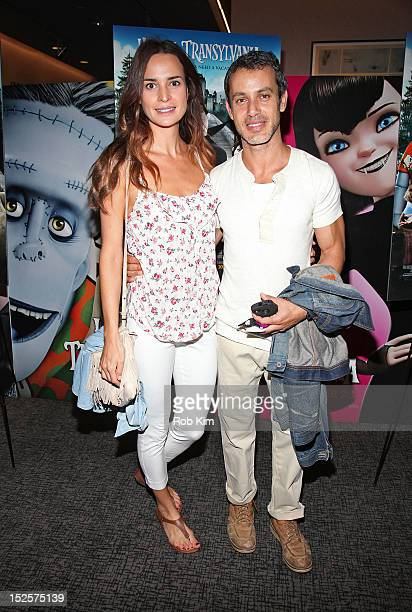 Andrew Lauren and Laetitia Queyranne attend the 'Hotel Transylvania' premiere at the Academy Theater at Lighthouse International on September 22 2012...