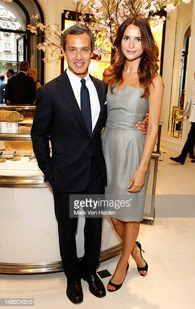 "Andrew Lauren and Laetitia Queyranne attend the Ralph Lauren celebration for the publication of ""The Hamptons: Food, Family and History"" by Ricky..."