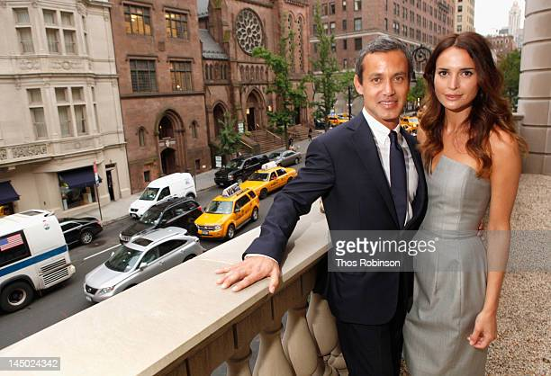 Andrew Lauren and Laetitia Queyranne attend the Ralph Lauren celebration for the publication of 'The Hamptons Food Family and History' by Ricky...