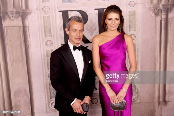 Andrew Lauren and Natascha Schuetz attend the Ralph Lauren fashion show during New York Fashion Week at Bethesda Terrace on September 7 2018 in New...