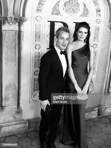 Andrew Lauren and Natasha Schuetz attends the Ralph Lauren 50th Anniversary show during New York Fashion Week at Bethesda Terrace on September 7 2018...