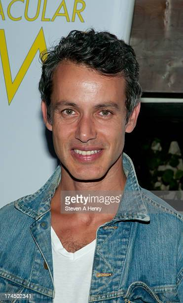 Andrew Lauren attends The Hollywood Reporter Samsung with The Cinema Society screening of A24's The Spectacular Now at The Crow's Nest on July 26...