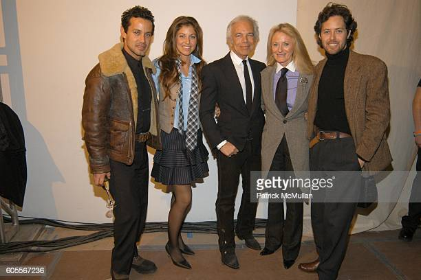 Andrew Lauren, Dylan Lauren, Ralph Lauren, Ricky Lauren and David Lauren attend Ralph Lauren Fall 2006 Men's Collection at Skylight Studios on...