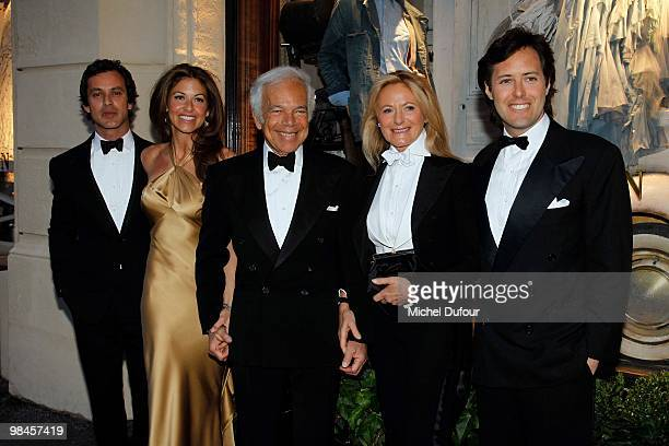 Andrew Lauren, Dylan Lauren, Ralph Lauren, Ricky Lauren and David Lauren attend the Ralph Lauren Dinner to Celebrate Flagship Opening - Photocall on...