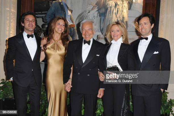 Andrew Lauren, Dylan Lauren, Ralph Lauren, Ricky Lauren and David Lauren arrive to the Ralph Lauren dinner to celebrate the opening of the flagship...