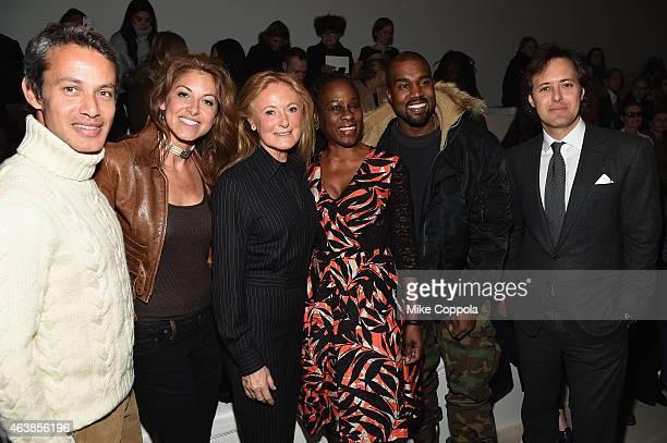 Andrew Lauren Dylan Lauren Ricky Lauren Chirlane McCray and Kanye West attend the Ralph Lauren fashion show during MercedesBenz Fashion Week Fall...