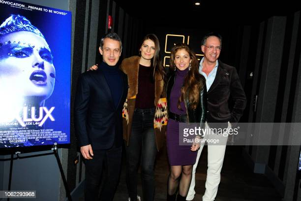 Andrew Lauren Natasha Schuetz Dylan Lauren and Andrew Saffir attend Neon And The Cinema Society Host A Special Screening Of Vox Lux' at Quad Cinema...