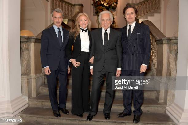 Andrew Lauren, Ricky Lauren, Ralph Lauren and David Lauren attend the UK Premiere of 'Very Ralph' at Royal Academy of Arts on November 14, 2019 in...
