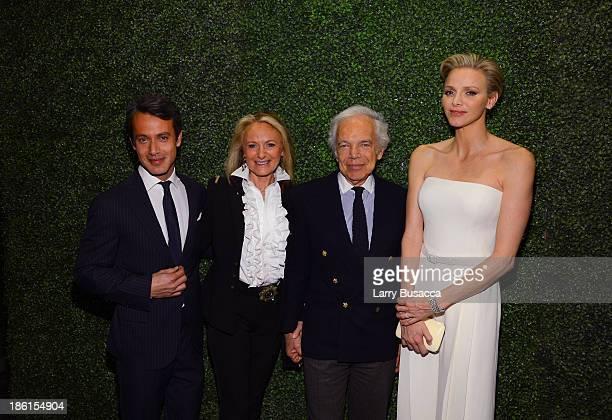 Andrew Lauren Ricky Lauren Ralph Lauren and Princess Charlene of Monaco arrive as Ralph Lauren Presents Exclusive Screening Of Hitchcock's To Catch A...