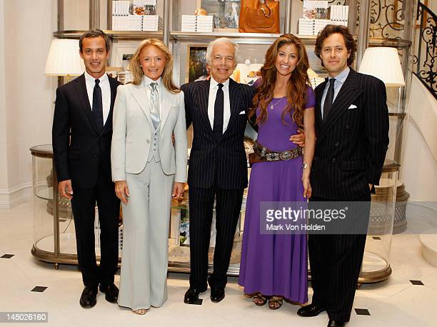 "Andrew Lauren, Ricky Lauren, Ralph Lauren, Dylan Lauren and David Lauren attend the Ralph Lauren celebration for the publication of ""The Hamptons:..."