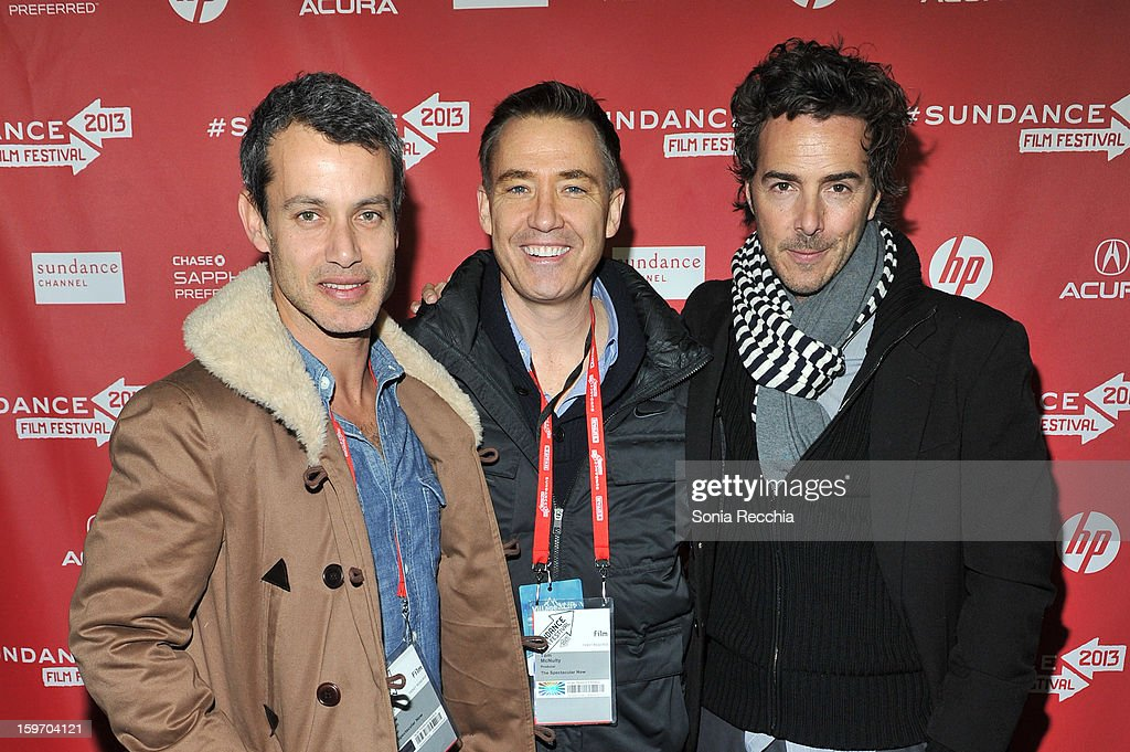 Andrew Lauren, Tom McNulty and Shawn Levy attend 'The Spectacular Now' premiere at Library Center Theater during the 2013 Sundance Film Festival on January 18, 2013 in Park City, Utah.