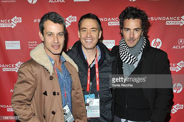 Andrew Lauren Tom McNulty and Shawn Levy attend 'The Spectacular Now' premiere at Library Center Theater during the 2013 Sundance Film Festival on...