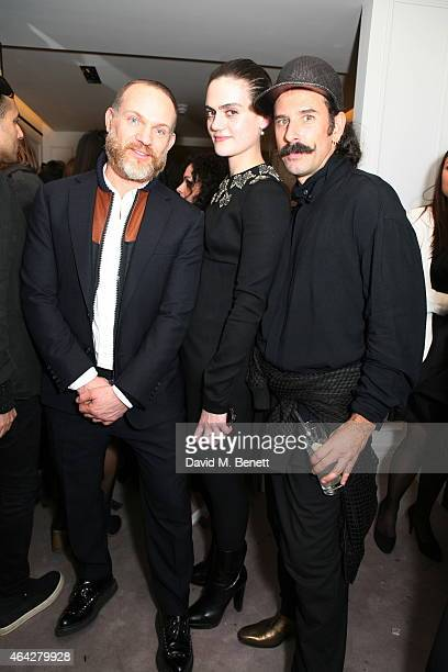 Andrew Leahy; Eve Marie Kuijstermans; Ryan Heffington attends the AnOther Magazine Spring/Summer 2015 launch party celebrating the present, past and...
