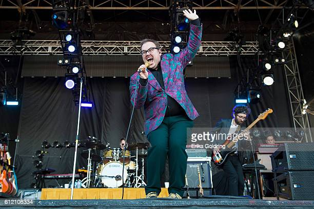 Andrew Lee Paul Janeway Jesse Phillips and Al Gamble of St Paul and the Broken Bones perform at Zilker Park on October 2 2016 in Austin Texas