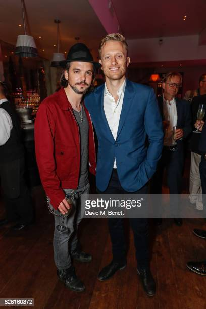 Andrew Lee Potts and Neil Jackson attend the press night after party for 'Apologia' at the Haymarket Hotel on August 3 2017 in London England