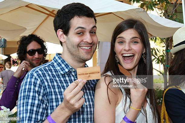 Andrew Leeds and Lindsey Kraft attends the Kari Feinstein MTV Movie Awards Style Lounge held at Montage Beverly Hills on June 3 2010 in Beverly Hills...