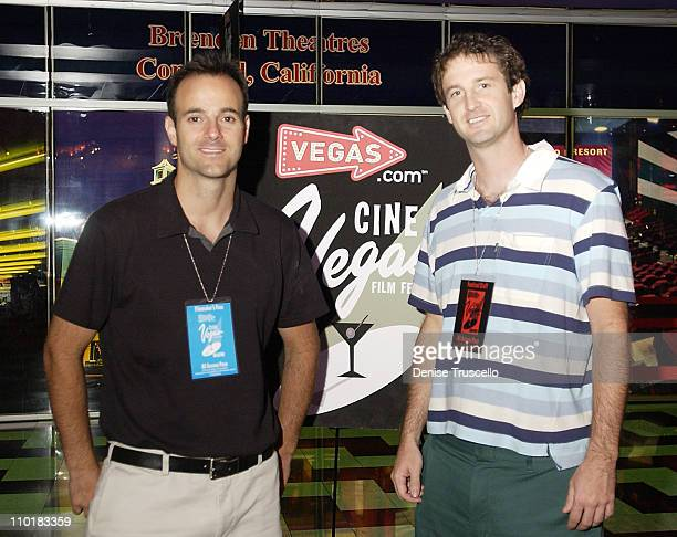 Andrew Levine Trevor Groth during CineVegas Film Festival 2003 Screening Of The Day My God Died at The Palms Casino Resort in Las Vegas Nevada United...