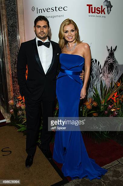 Andrew Levitas and Katherine Jenkins attend the annual Tusk Trust Conservation awards at Claridge's Hotel on November 24 2015 in London England