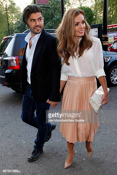 Andrew Levitas and Katherine Jenkins sighted arriving at the Classic FM Live concert held at the Royal Albert Hall on April 29 2014 in London England