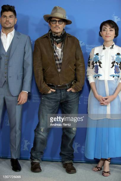 Andrew Levitas Johnny Depp and Minami attend the Minamata photo call during the 70th Berlinale International Film Festival Berlin at Grand Hyatt...