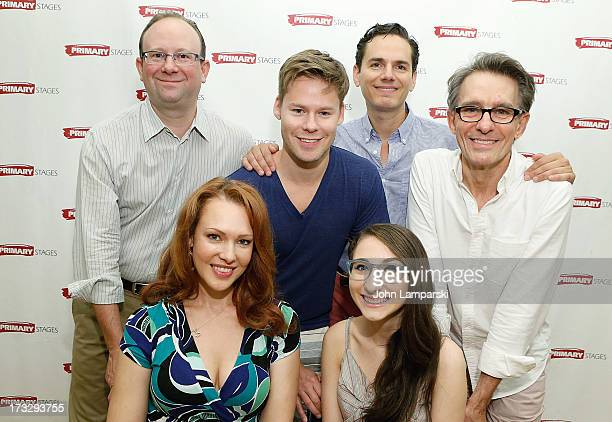 Andrew Leynese Randy Harrison Paul AnthonyStewart Erin Cummings and Alexis Molnar attend the 'Harbor' Cast Photo Call at Primary Stages Rehearsal...
