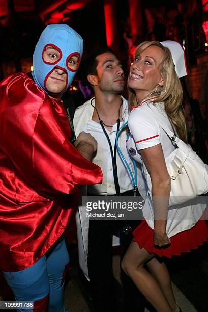 Andrew Lifzyt Ben Bloch and Hunter during RipeTV Anniversary and Haunted Mansion at Private Residence in Los Angeles California United States