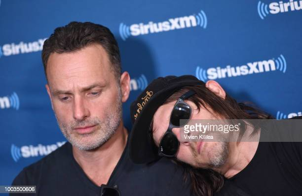 Andrew Lincoln and Norman Reedus attend SiriusXM's Entertainment Weekly Radio Broadcasts Live From Comic Con in San Diego at Hard Rock Hotel San...