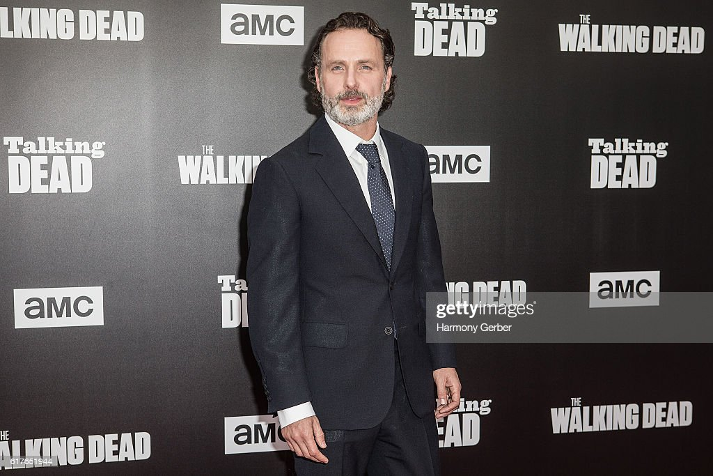 Andrew Lincoln arrives at AMC presents live, 90-minute special edition of 'Talking Dead' at Hollywood Forever on October 23, 2016 in Hollywood, California.